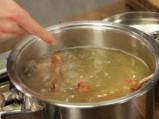 Супа от пушени ребра с картофена бисквитка