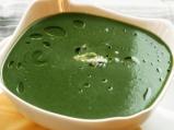 Спаначена крем супа със синьо сирене