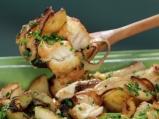 Риба треска с картофи и лук на фурна