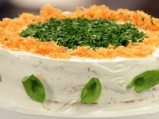 Солена торта с крем от сирене