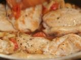 Пилешко с гъби и чери домати 5