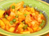 Къри с карфиол, картофи и грах