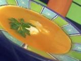 Супа от тиква с пъдпъдъчи яйца