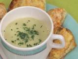 Супа от целина с канапе от пушено сирене
