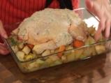 Печено пиле със зеленчуци 5