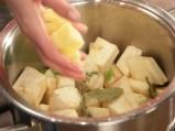 Супа от целина със синьо сирене 3