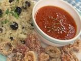 Калмари с доматен бульон