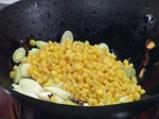Спагети с праз и царевица 2