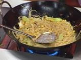 Спагети с праз и царевица 3
