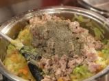 Гарнитура от зеленчуци със свински кокали 5