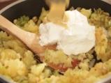 Запечени картофи с праз и моцарела 4