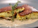 Качамак със сос от манатарки и сметана