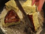Качамак със сос от манатарки и сметана  6