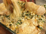 Пиле с ориз и коприва на фурна 5