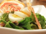 Спаначена салата с яйца и гъби 6