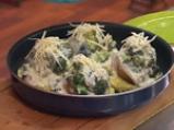 Огретен от пъстърва с крем от броколи и сирене
