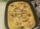 Пилешки бутчета с ориз и топено сирене 6