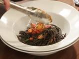 Черни спагети с миди 9