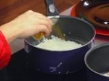 Фритиран лаврак в темпура върху дует на ориз и зеленчуци 5