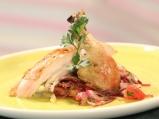 Печено пиле с микс от провансалски по...