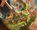 Маринован сафрид със зеленчуци и пикантни крутони 6