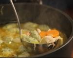 Пилешка супа с магданозени кнедли 7
