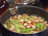 Царевична супа с рулца от раци 2