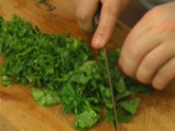 Спаначена салата с беконова заливка 2