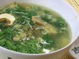 Яйчена супа със спанак