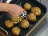 Пълнени картофи с крем от праз