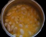 Бъркани яйца с боб и чушки 3