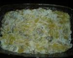 Печени картофи с гъби и топено сирене 3