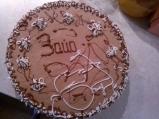 Шоколадово-сметанова торта с ягоди и ...