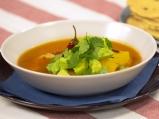 Бърза пилешка супа с тортили