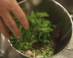 Супа от праз, бекон и паста 2