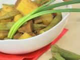 Телешко къри с картофи и бамя