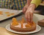 Шоколадова  мус торта с портокалов чипс 11