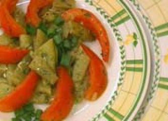 Салата от зелен фасул с домати