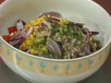 Зимна салата със зелен фасул и червени чушки 2