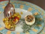 Зимна салата със зелен фасул и червени чушки 4