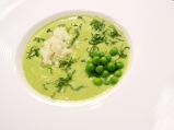 Студена грахова супа с авокадо