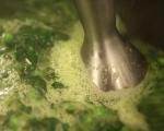 Постна крем супа от спанак и грах 4