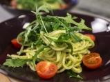Постни спагети със сос от авокадо