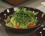 Постни спагети със сос от авокадо 5