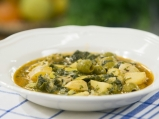 Яхния от пресен лук с маслини