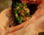 Агнешка плешка със зелена плънка 7