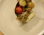 Картофи с чери домати на фурна 6