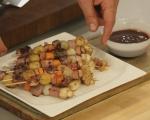 Пилешки шишчета с картофи и гъби 9