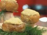 Пълнени печурки с хумус и сирене