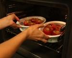 Пълнени домати с бекон и яйца 7